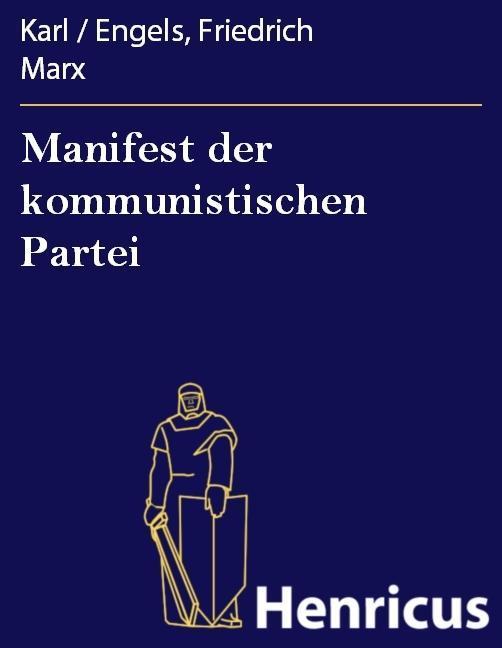 Manifest der kommunistischen Partei als eBook