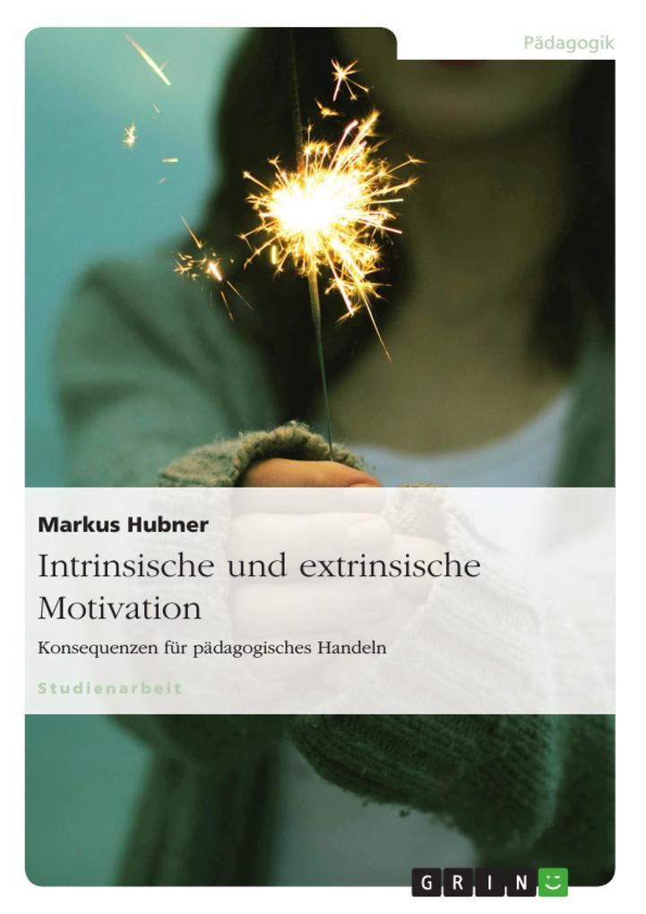 Intrinsische und extrinsische Motivation. Konsequenzen für pädagogisches Handeln als eBook von Markus Hubner - GRIN Verlag