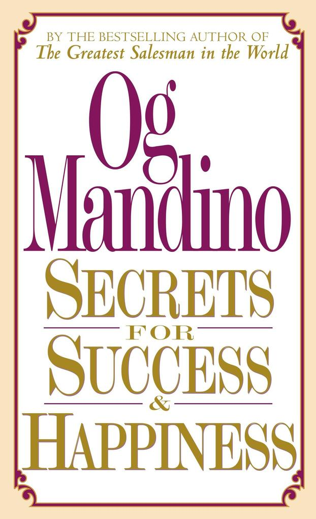 Secrets for Success and Happiness als Taschenbuch