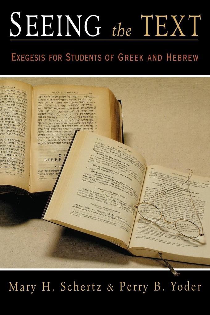 Seeing the Text als Taschenbuch