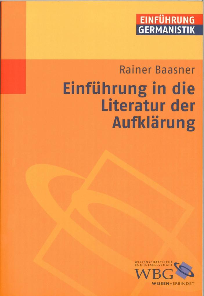 Einführung in die Literatur der Aufklärung als eBook