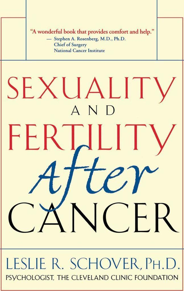 Sexuality and Fertility After Cancer als Taschenbuch
