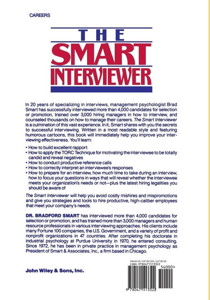 The Smart Interviewer als Taschenbuch