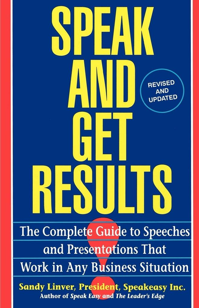 Speak and Get Results als Buch