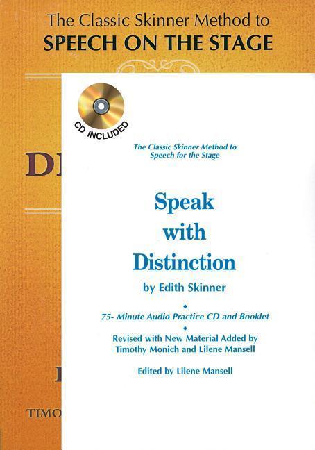Speak with Distinction: Book/CD/Booklet Package [With Cassette] als Taschenbuch