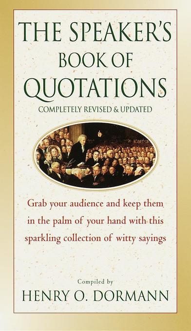 The Speaker's Book of Quotations, Updated and Revised als Taschenbuch