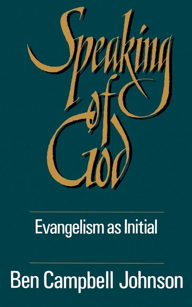 Speaking of God als Taschenbuch