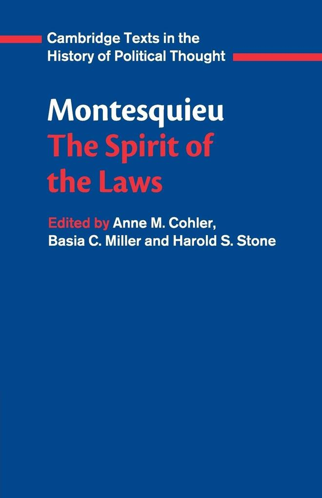 Montesquieu: The Spirit of the Laws als Buch