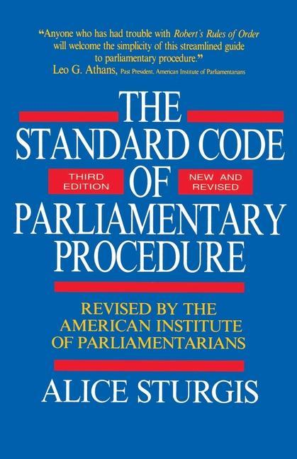 The Standard Code of Parliamentary Procedure als Taschenbuch
