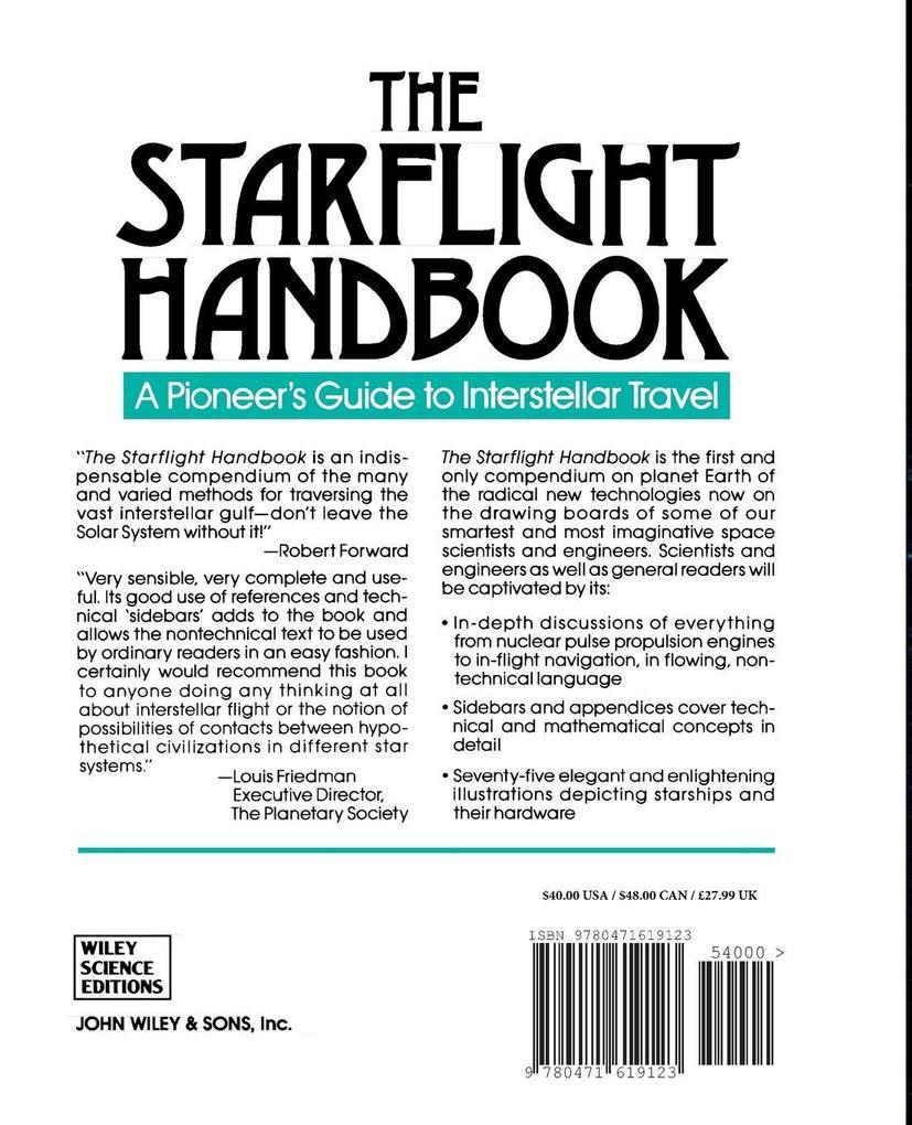 The Starflight Handbook als Taschenbuch