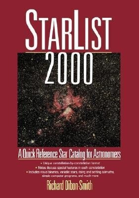 Starlist 2000: A Quick Reference Star Catalog for Astronomers als Taschenbuch