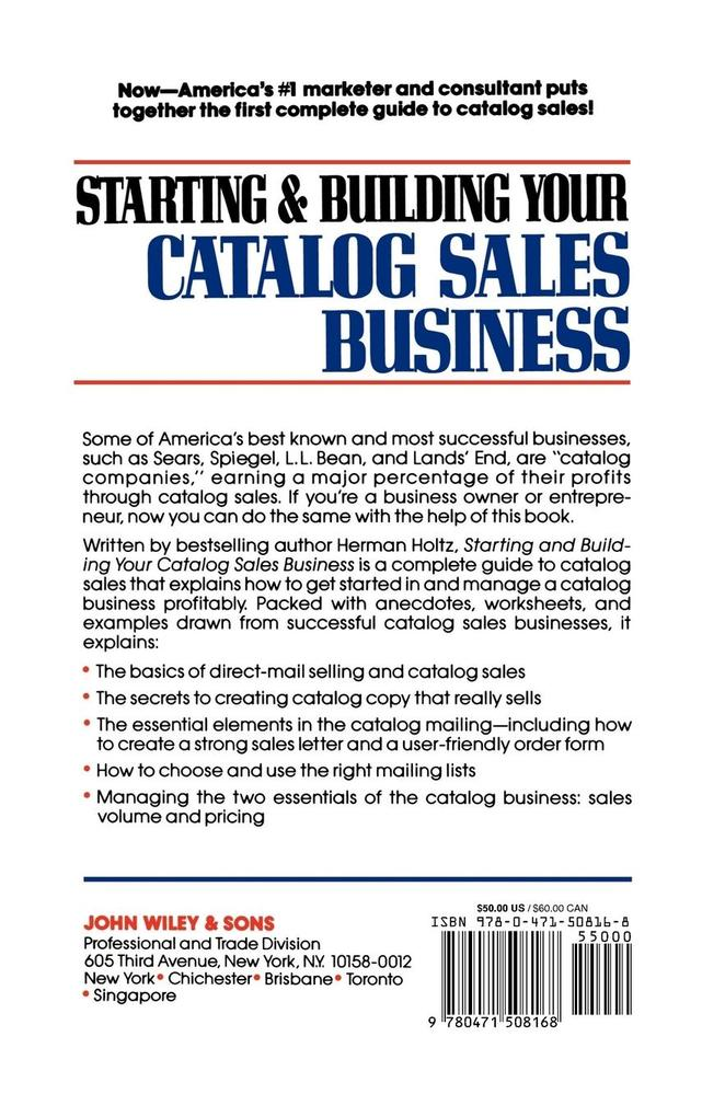 Starting and Building Your Catalog Sales Business als Buch