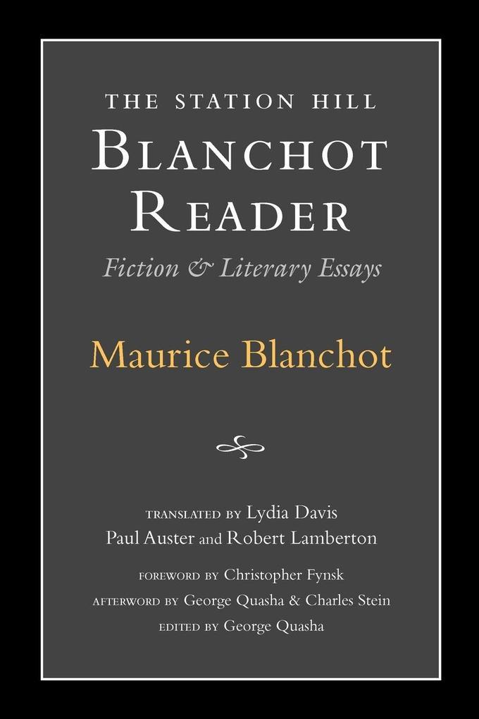 Station Hill Blanchot Reader als Buch