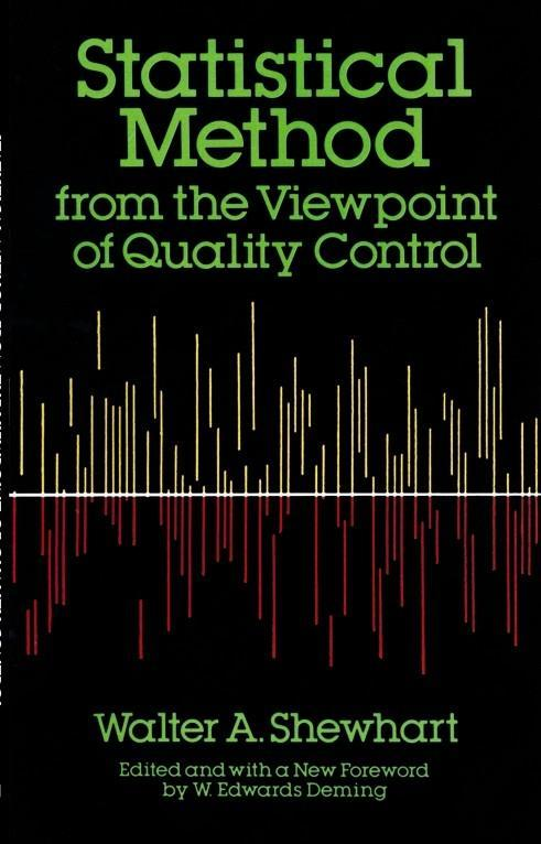 Statistical Method from the Viewpoint of Quality Control als Taschenbuch