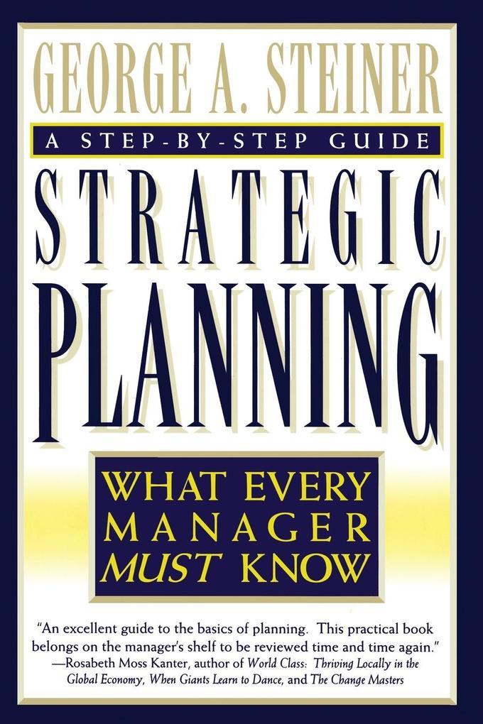Strategic Planning als Taschenbuch