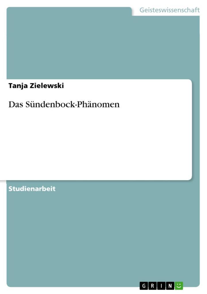 Das Sündenbock-Phänomen