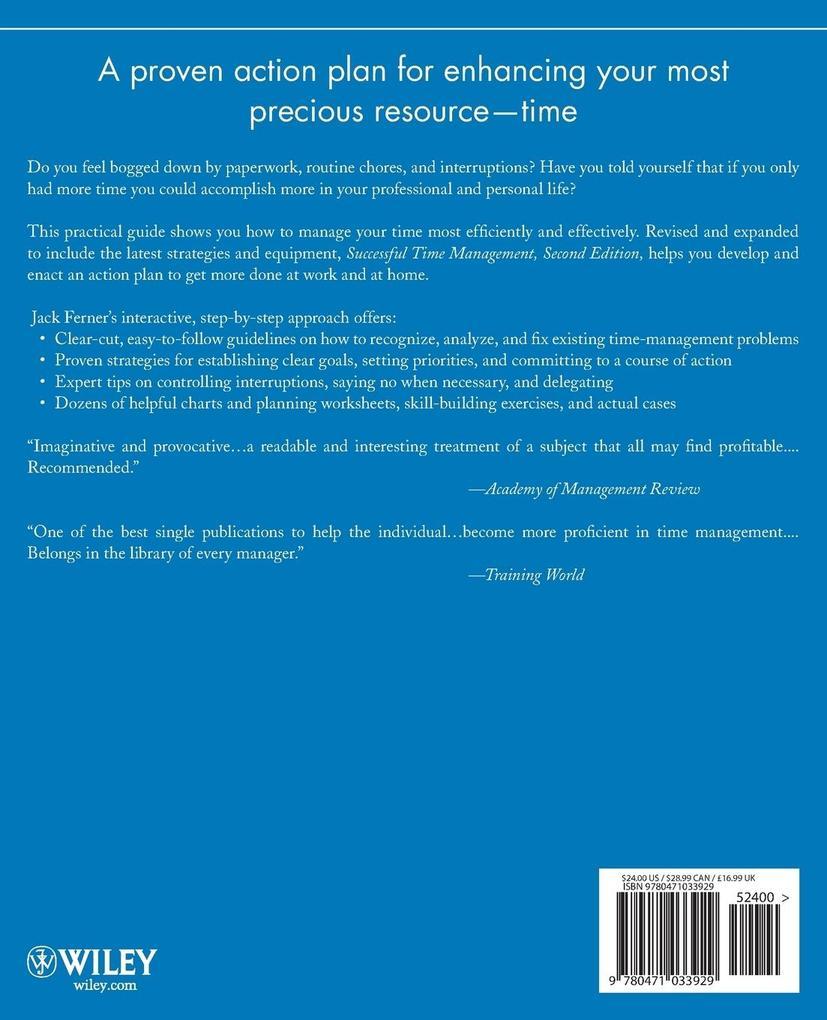 Successful Time Management als Taschenbuch