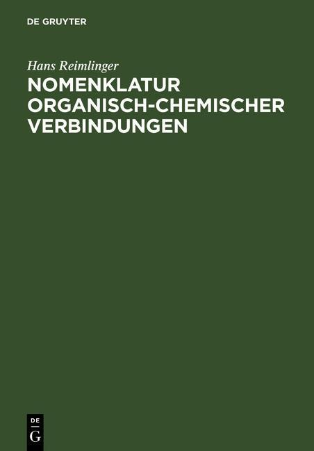 Nomenklatur Organisch-Chemischer Verbindungen als eBook
