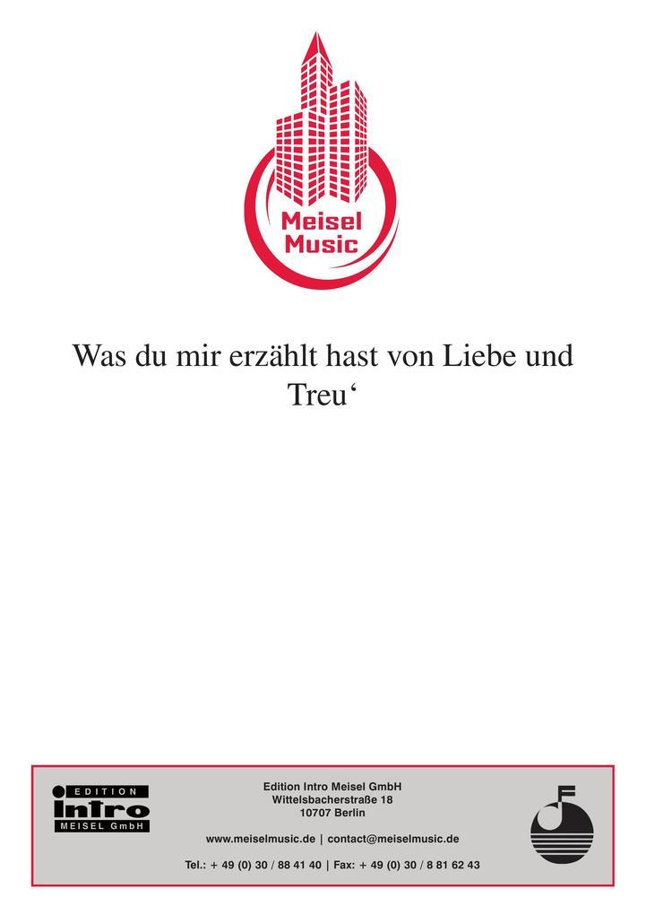 Was du mir erzählt hast von Liebe und Treu´ als eBook von Hans-Fritz Beckmann, Peter Kreuder - Edition Meisel GmbH