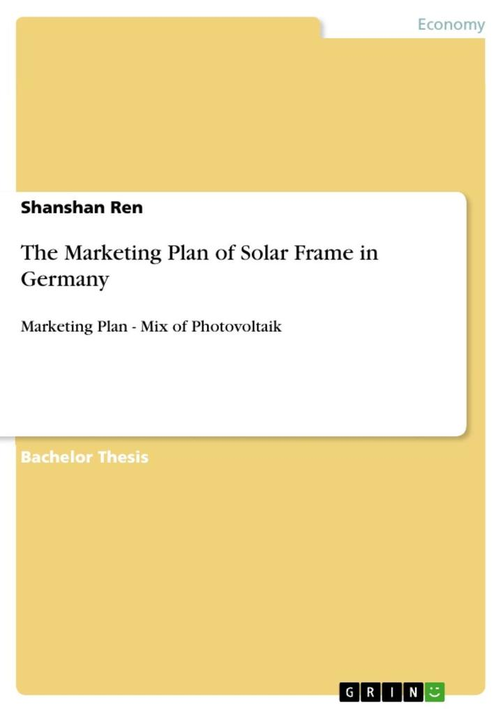 The Marketing Plan of Solar Frame in Germany