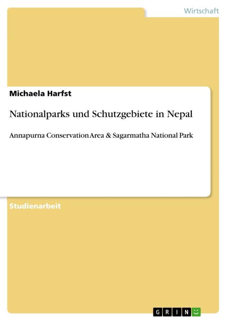 Nationalparks und Schutzgebiete in Nepal