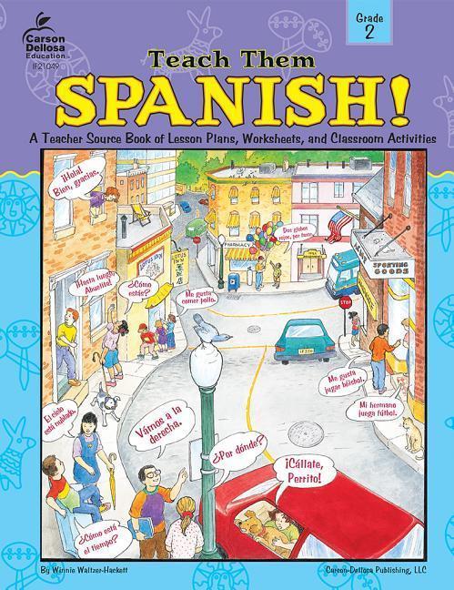 Teach Them Spanish!, Grade 2 als Taschenbuch