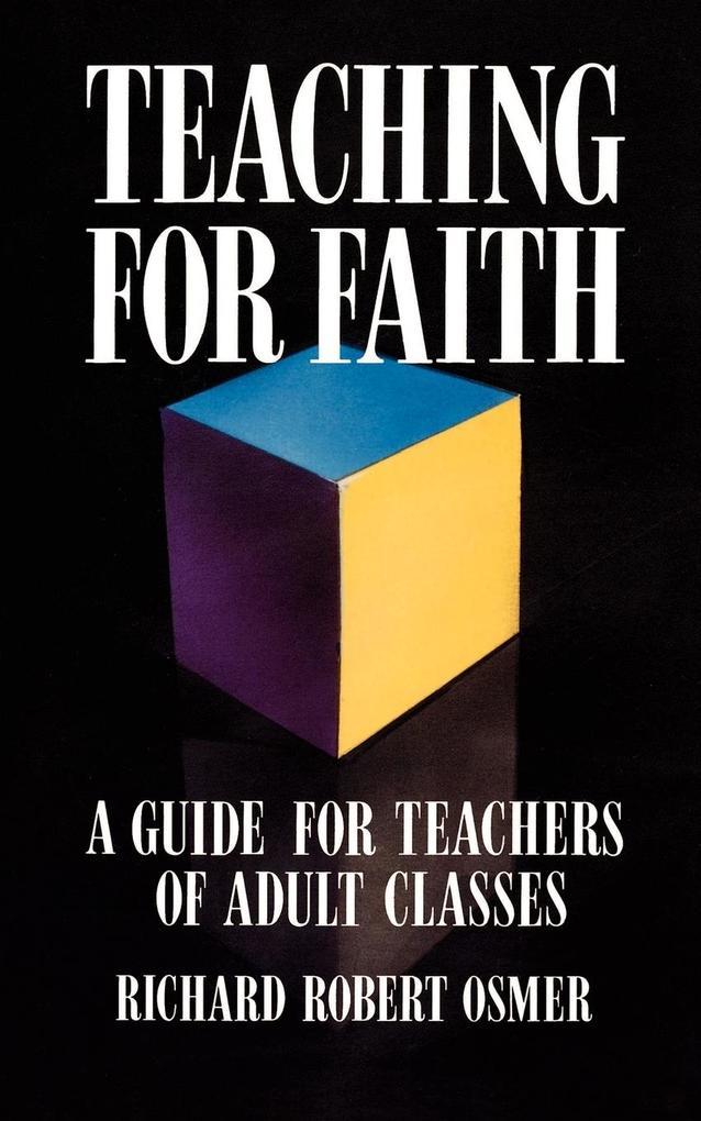 Teaching for Faith als Taschenbuch