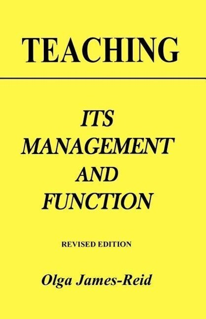 Teaching: Its Management and Function als Taschenbuch