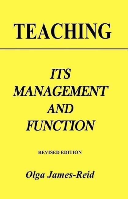 Teaching: Its Management and Function als Taschenbuch