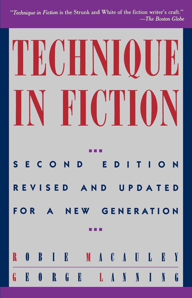 Technique in Fiction als Taschenbuch