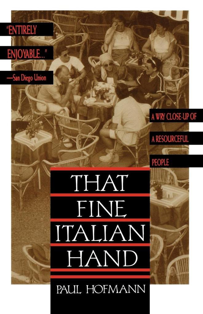 That Fine Italian Hand als Taschenbuch