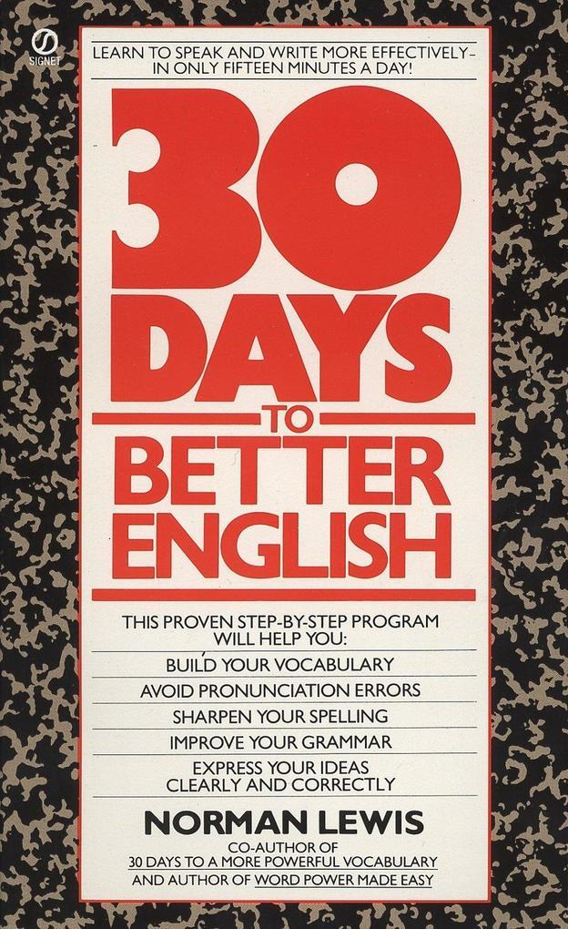 Thirty Days to Better English als Taschenbuch