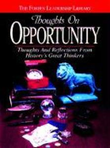 Thoughts on Opportunity: Thoughts and Reflections from History's Great Thinkers als Buch