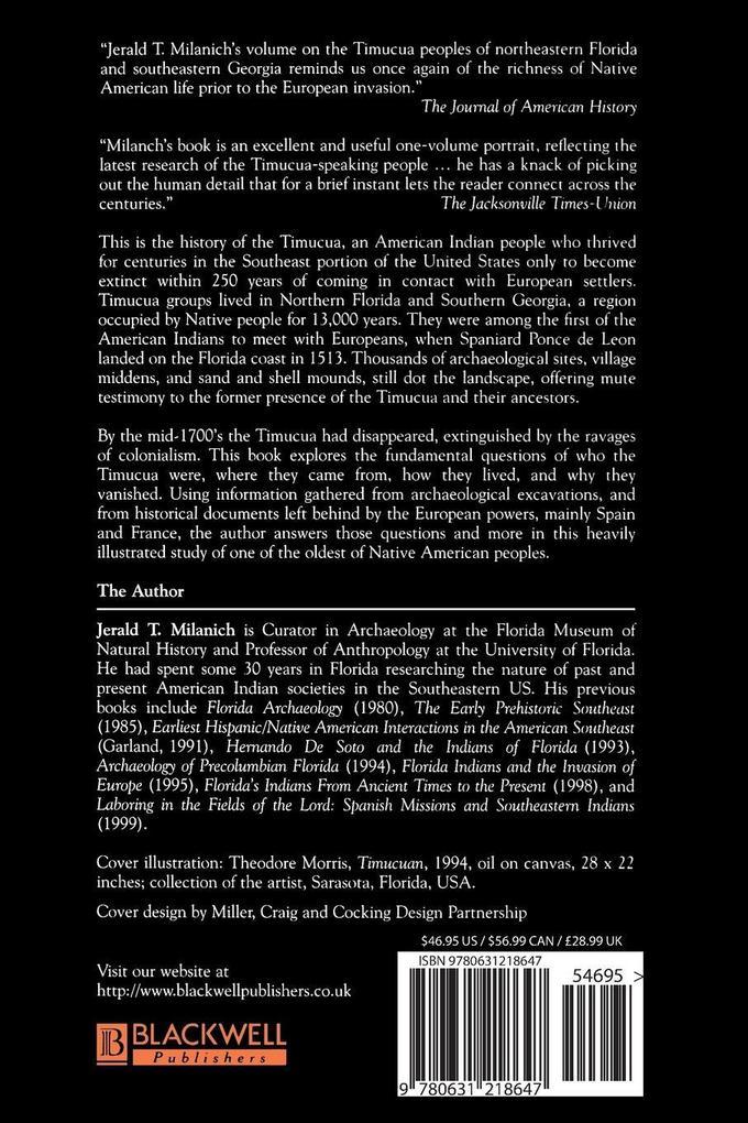 The Timucua als Taschenbuch