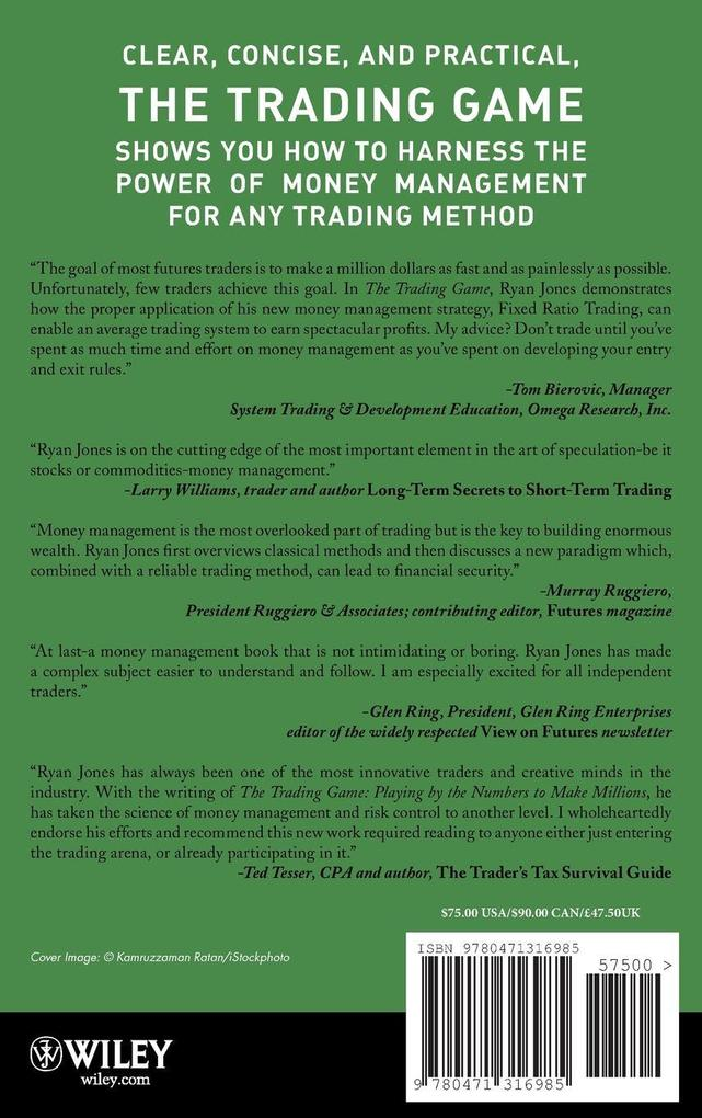 The Trading Game: Playing by the Numbers to Make Millions als Buch