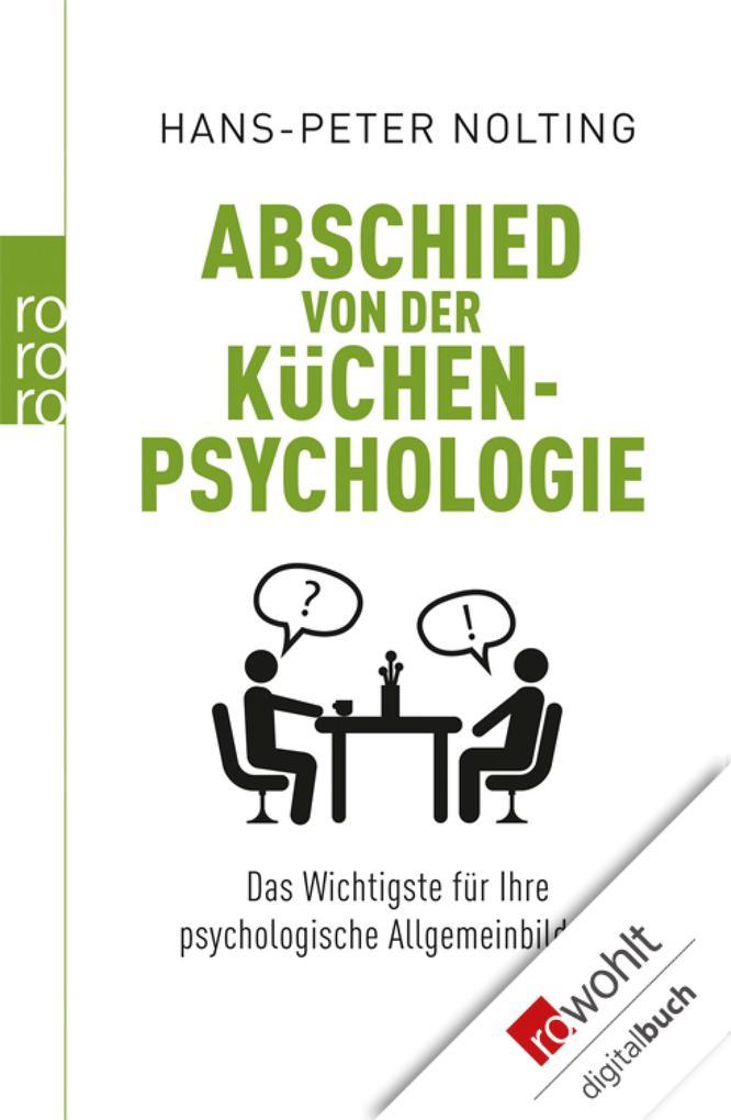 Abschied von der Küchenpsychologie als eBook