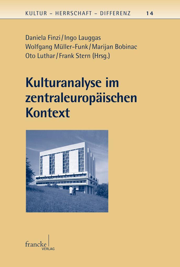 Kulturanalyse im zentraleuropäischen Kontext als eBook