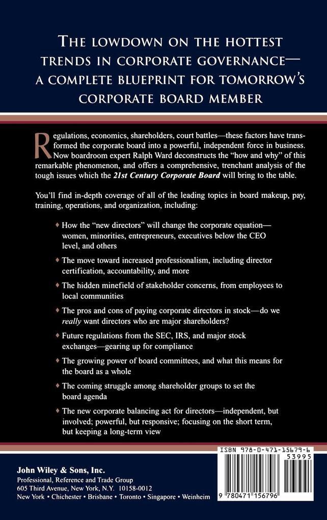 21st Century Corporate Board als Buch