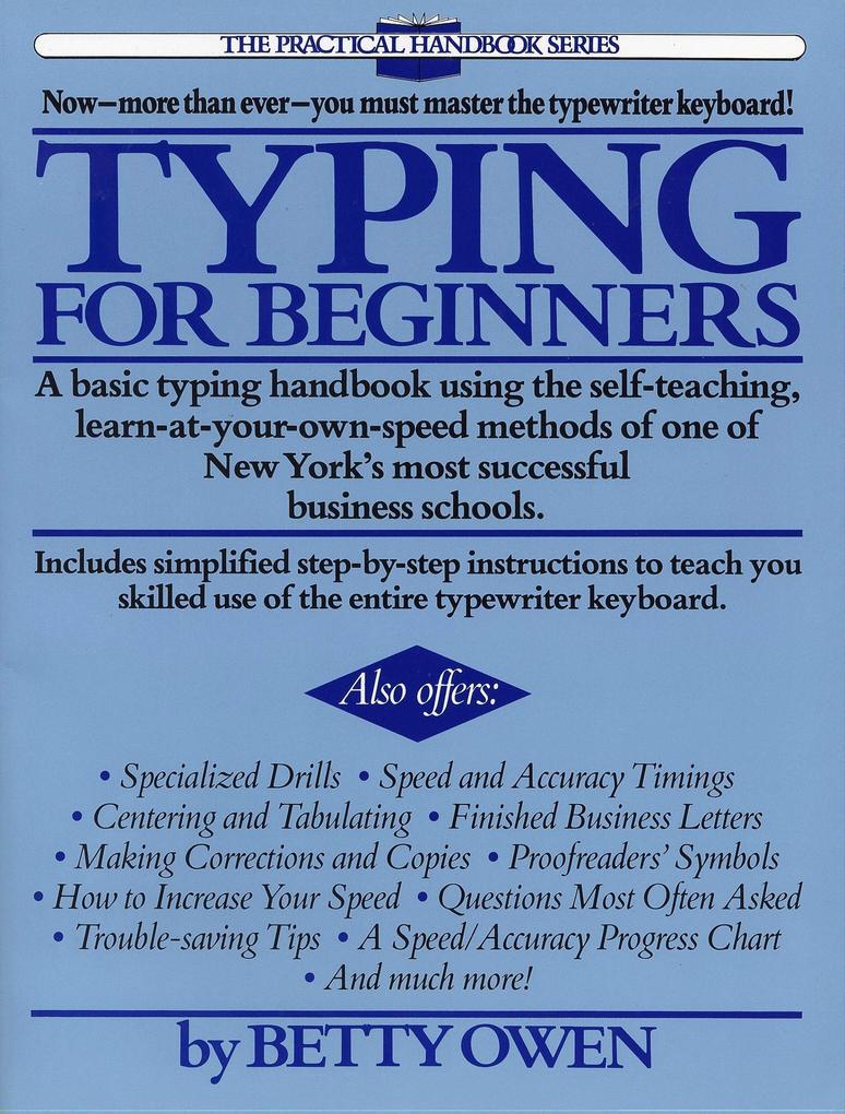 Typing for Beginners als Taschenbuch