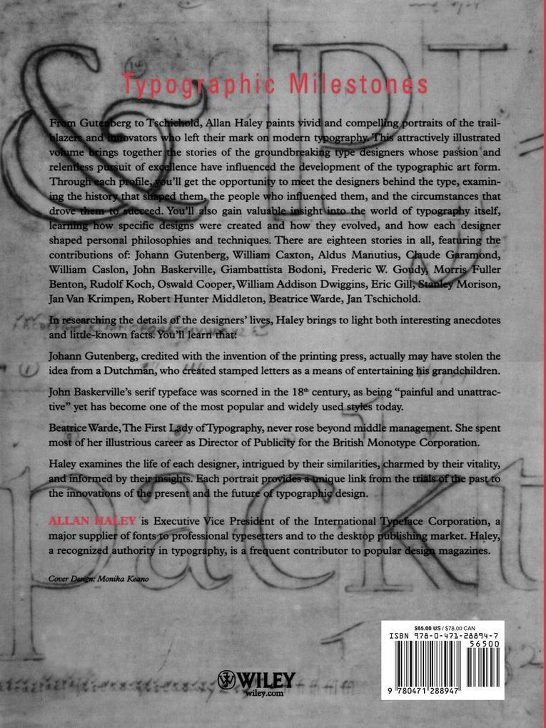 Typographic Milestones als Taschenbuch