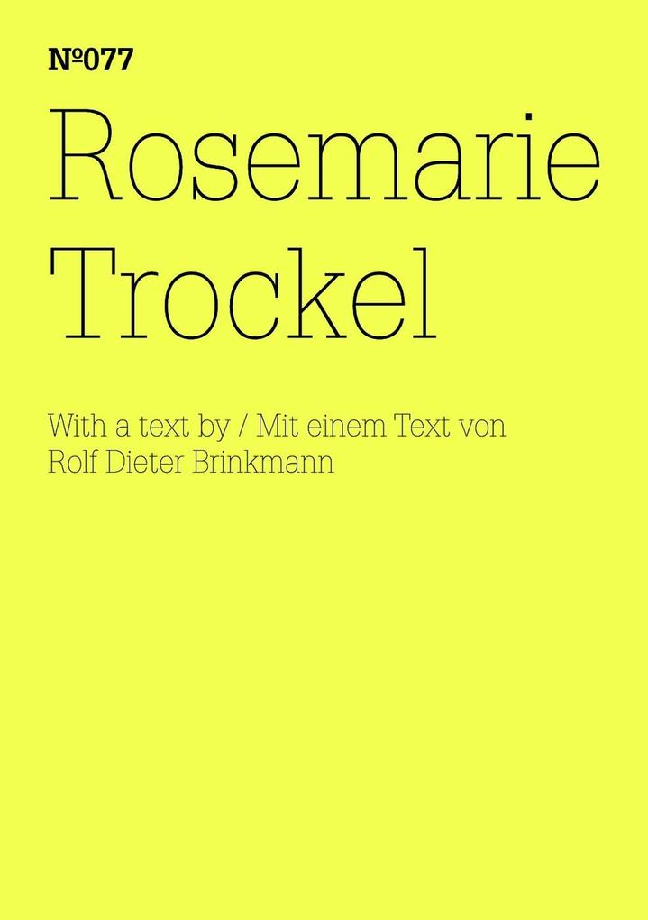 Rosemarie Trockel als eBook epub