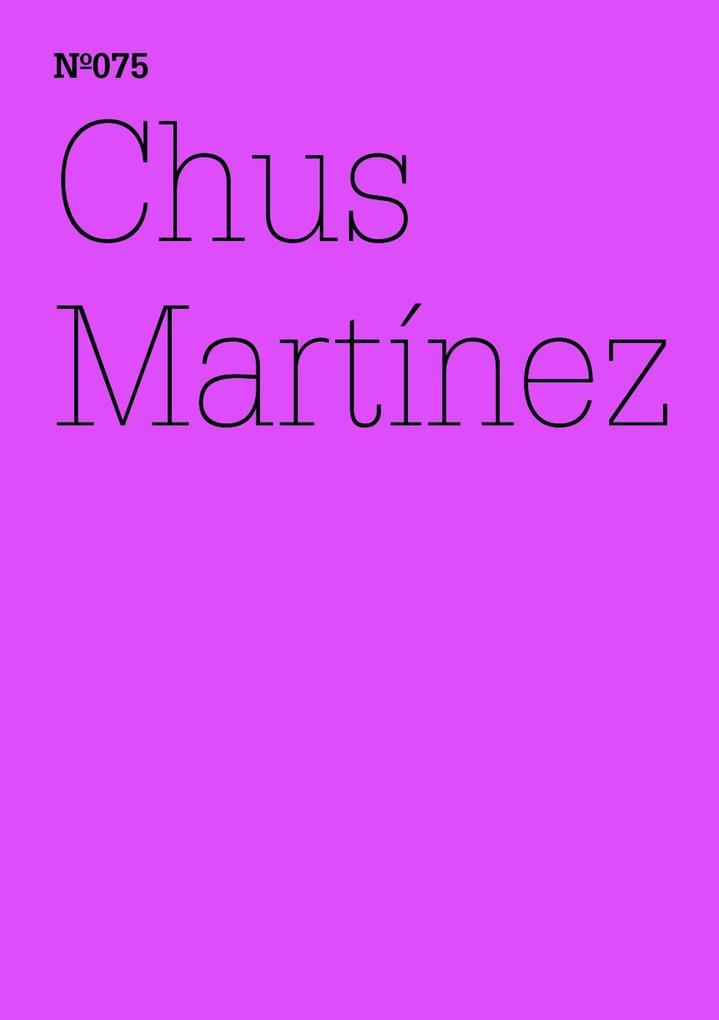 Chus Martínez als eBook