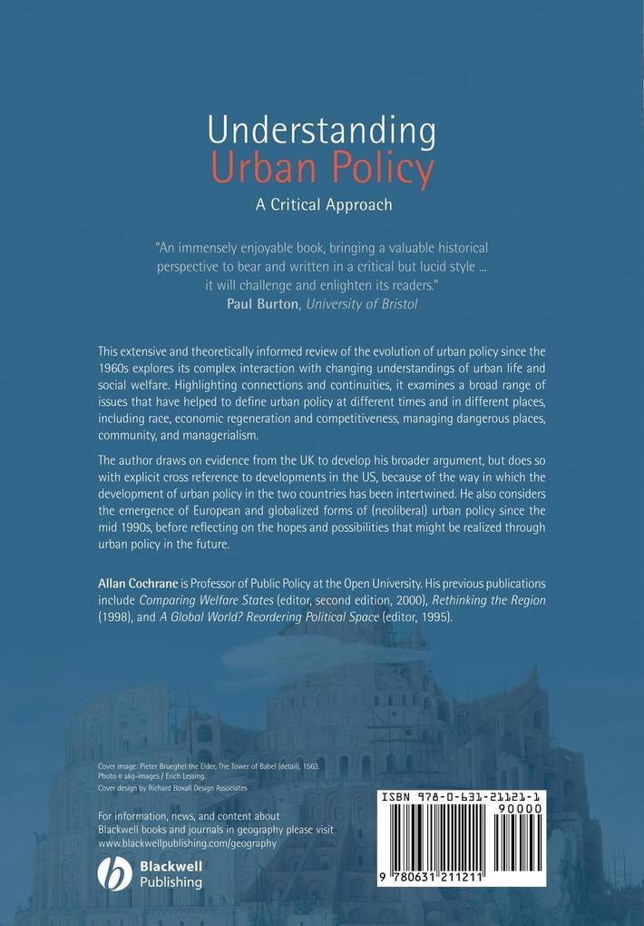 Understanding Urban Policy: A Critical Introduction als Taschenbuch