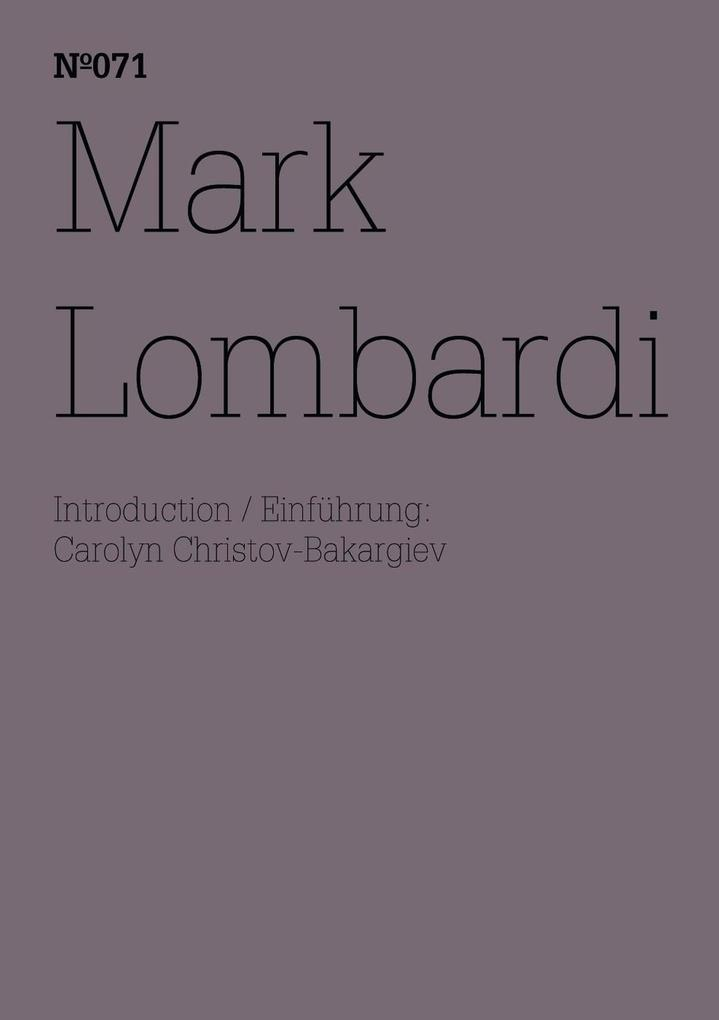 Mark Lombardi als eBook