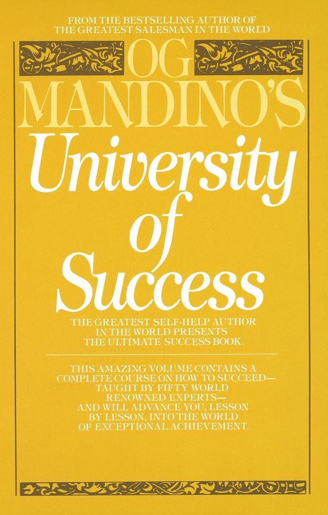 University of Success als Taschenbuch