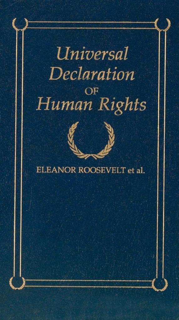 Universal Declaration of Human Rights als Buch