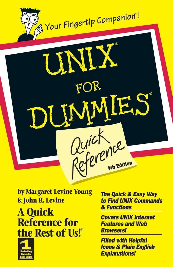 UNIX For Dummies Quick Reference 4e als Buch