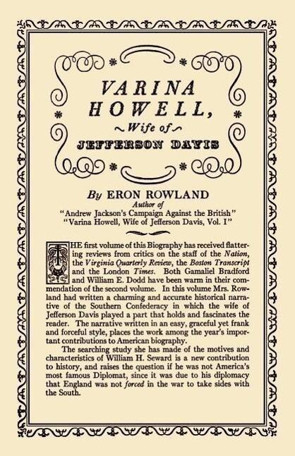 Varina Howell: Wife of Jefferson Davis als Taschenbuch