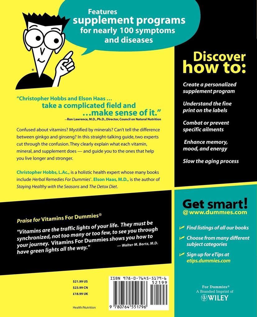 Vitamins For Dummies als Buch