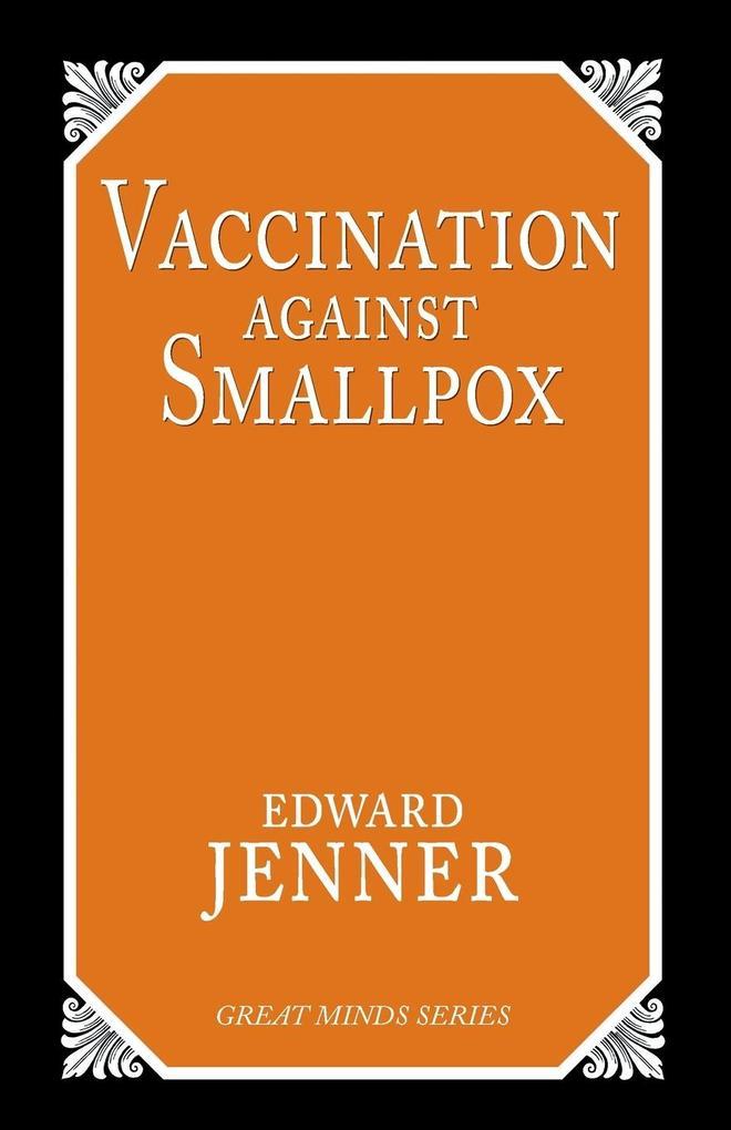 Vaccination Against Smallpox als Taschenbuch